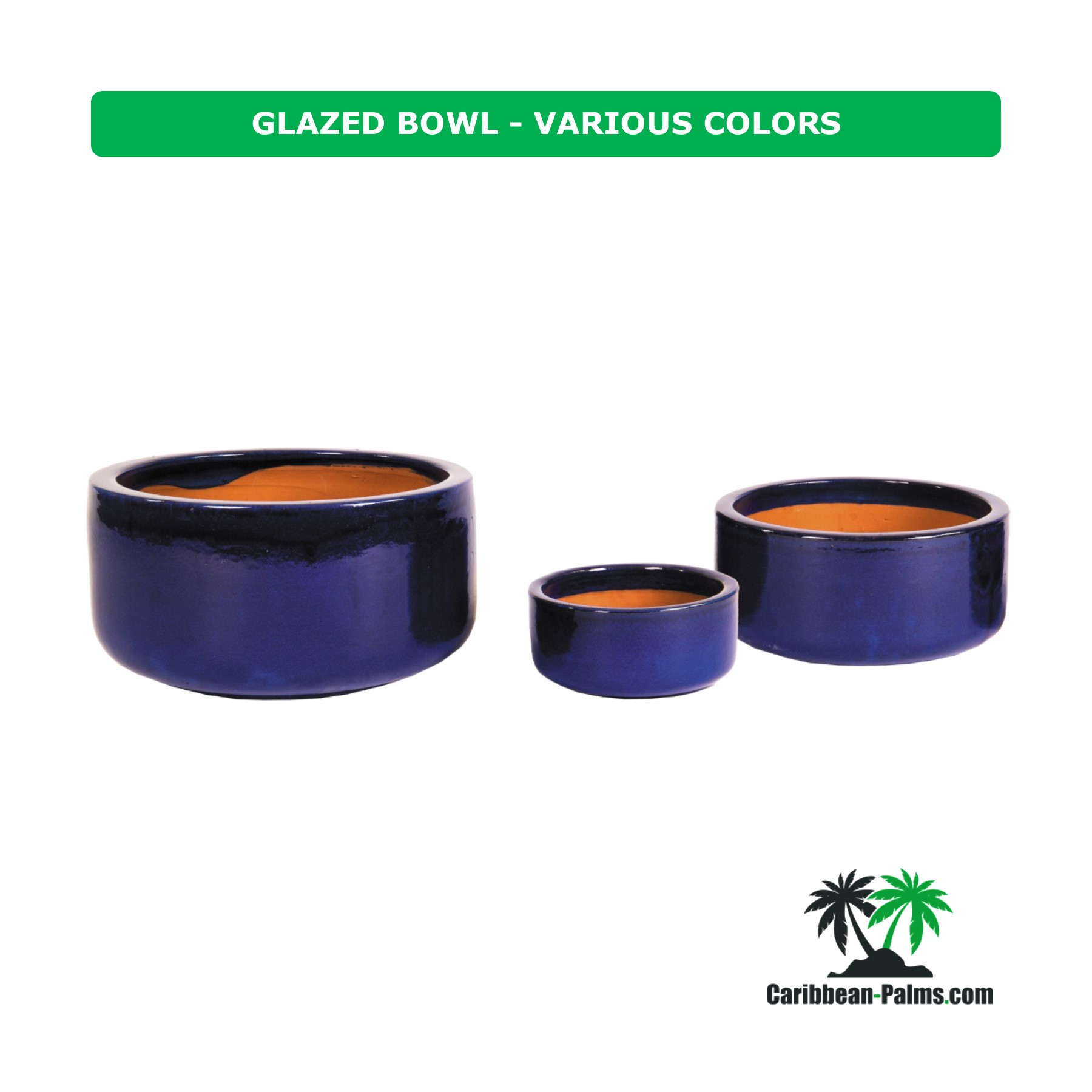 GLAZED BOWL VARIOUS COLORS