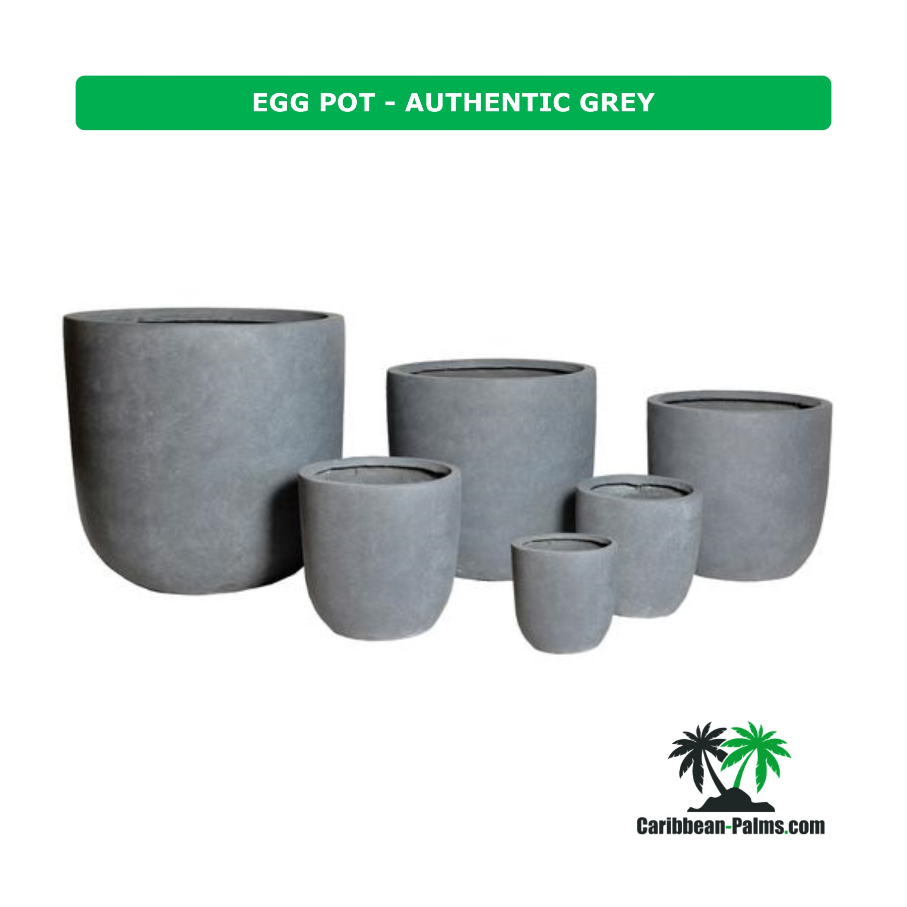 EGG POT AUTHENTIC GREY