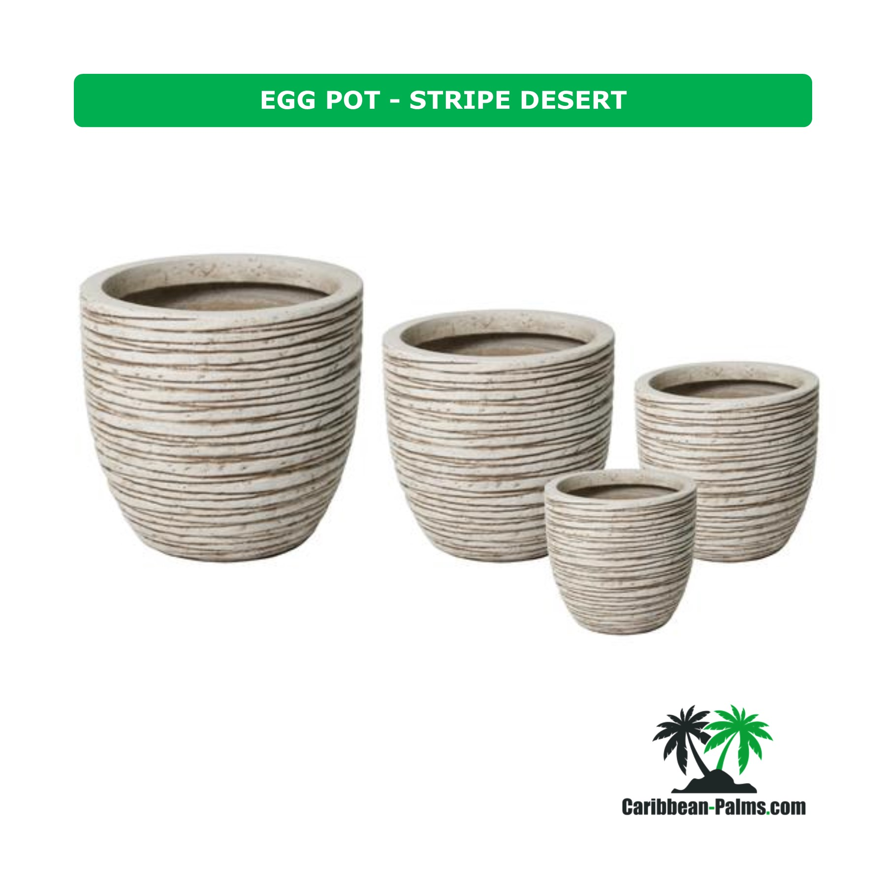EGG POT STRIPE DESERT