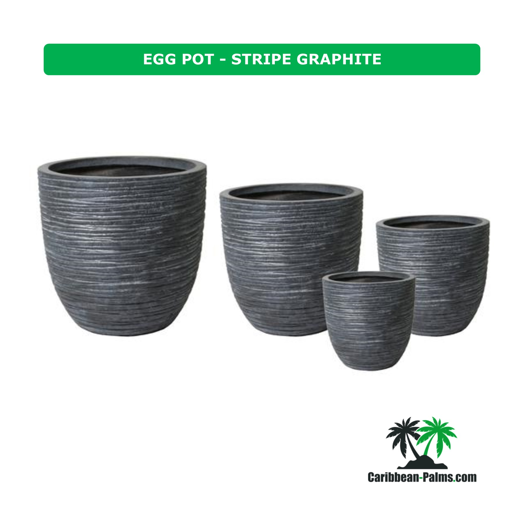 EGG POT STRIPE GRAPHITE