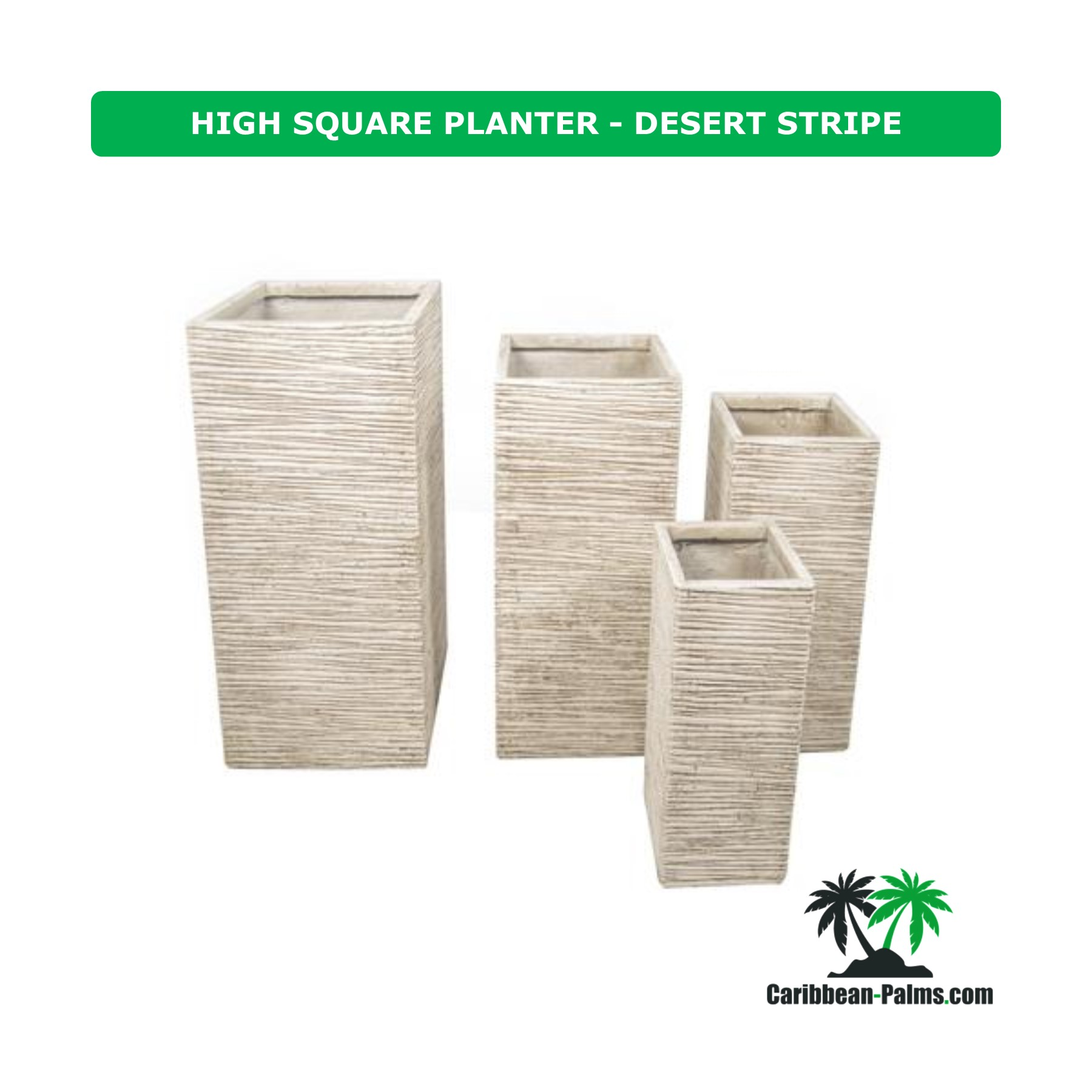 HIGH SQUARE PLANTER DESERT STRIPE
