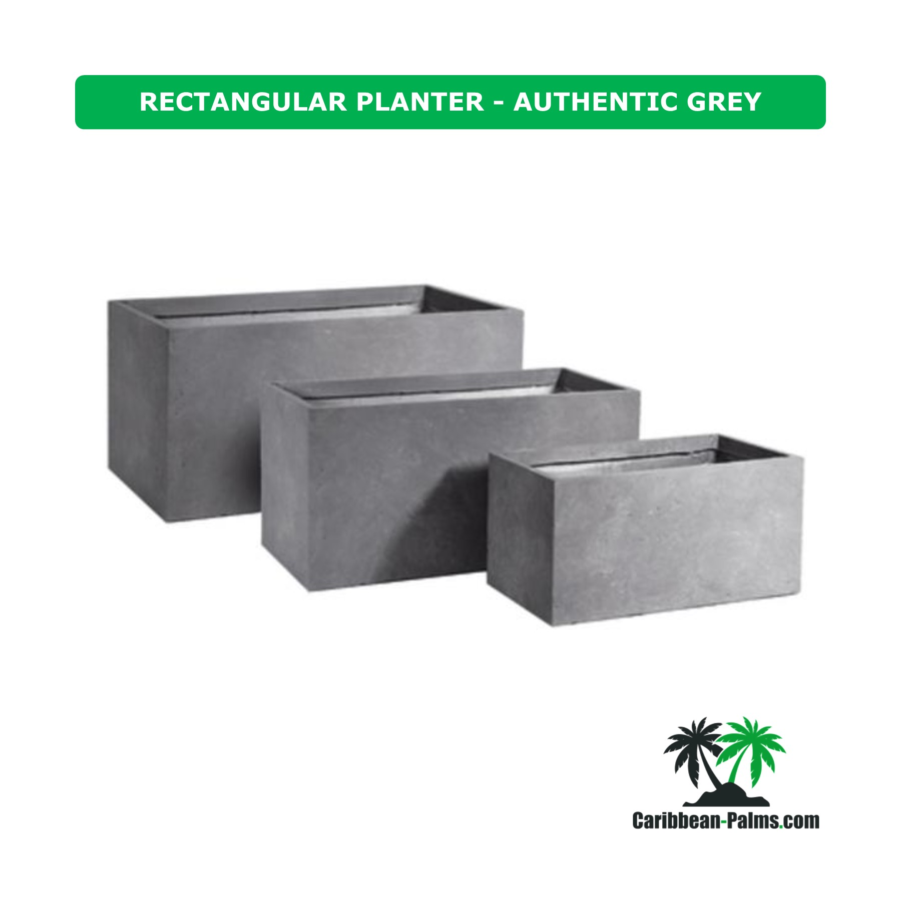 RECTANGULAR PLANTER AUTHENTIC GREY