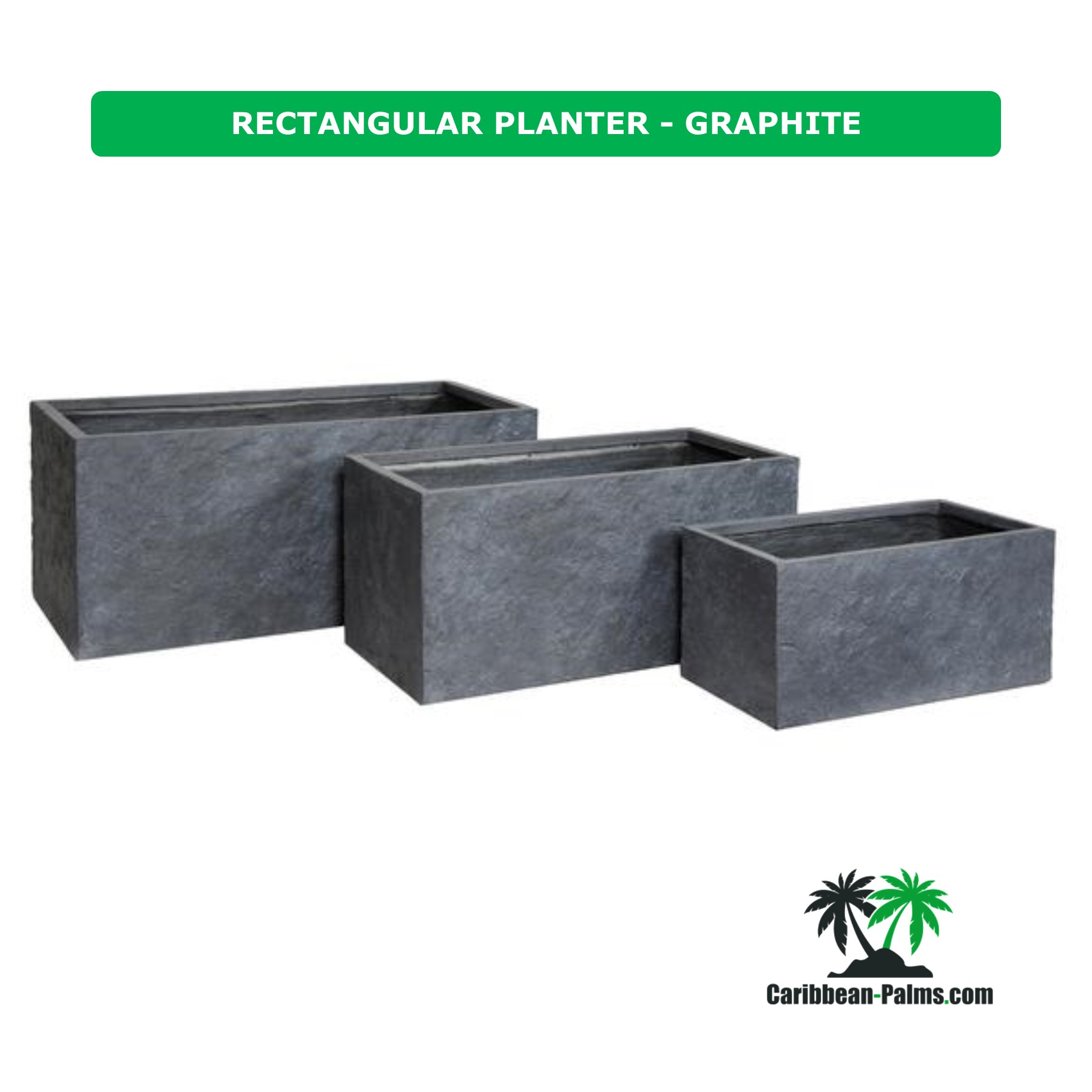 RECTANGULAR PLANTER GRAPHITE