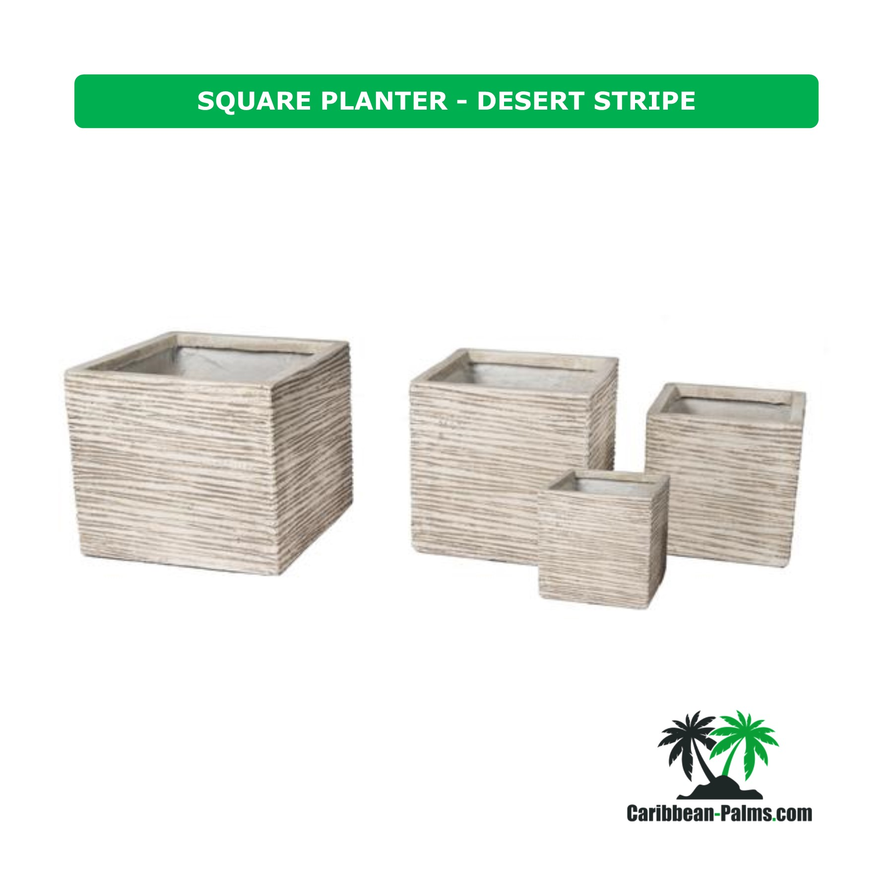 SQUARE PLANTER DESERT STRIPE