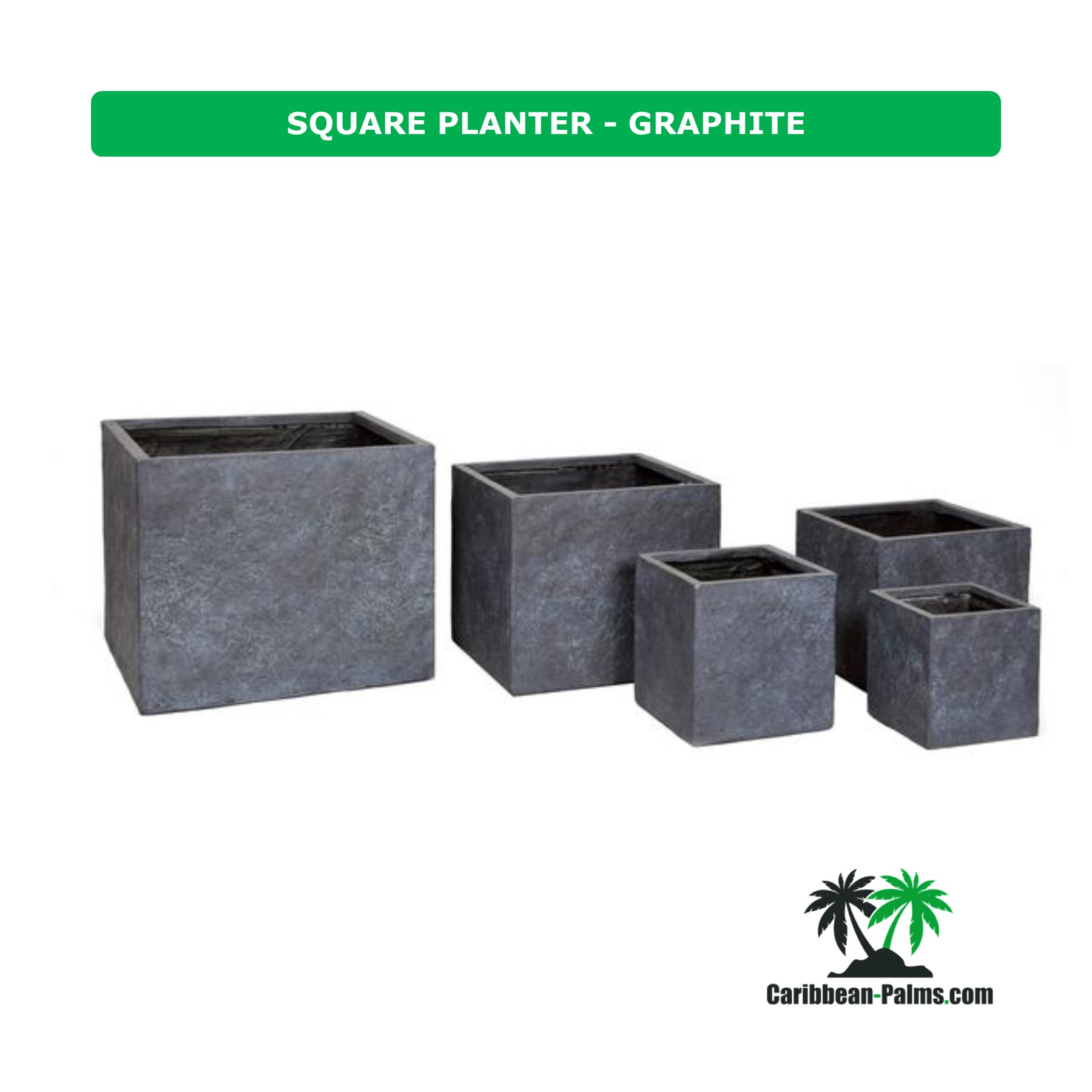 SQUARE PLANTER GRAPHITE