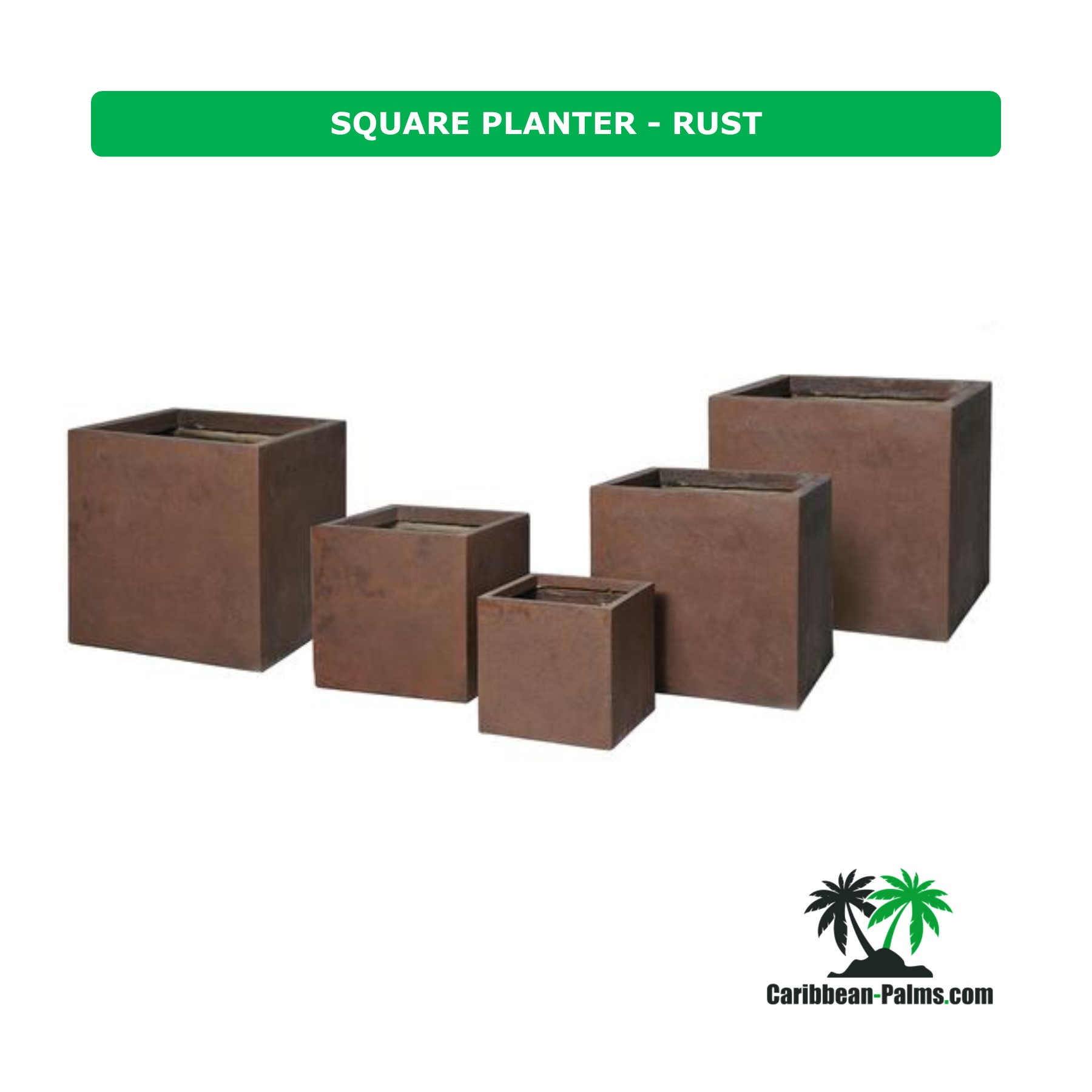 SQUARE PLANTER RUST